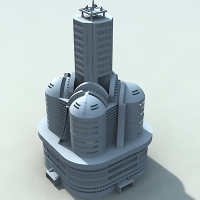 building futuristic 3d 3ds